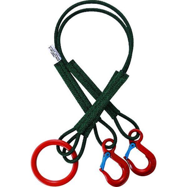 【メーカー在庫あり】 SP2915450 トラスコ中山(株) TRUSCO 2本吊セフティパワーロープ 径9mm 長さ1.5m SP2-915-450 JP店