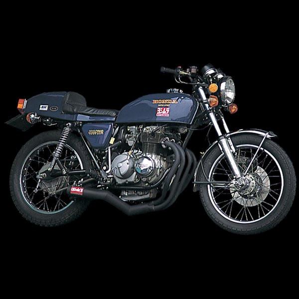 ヨシムラ 機械曲ストレートサイクロン フルエキゾースト 74年-77年 CB400FOUR スチール 110-441-4640 JP店