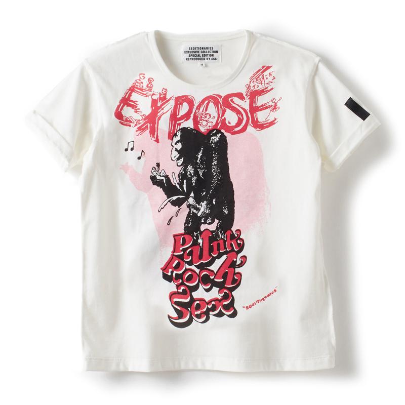 人気 おすすめ Tシャツ EXPOSE オフホワイト 期間限定今なら送料無料 セディショナリーズ