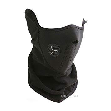 防寒 フェイスマスク ブラック スキー スノボ バイク 自転車 釣り 登山 屋外 アウトドアに! ネックウォーマー マスク[冬の特集][その他SP][定形外郵便、送料無料、代引不可]
