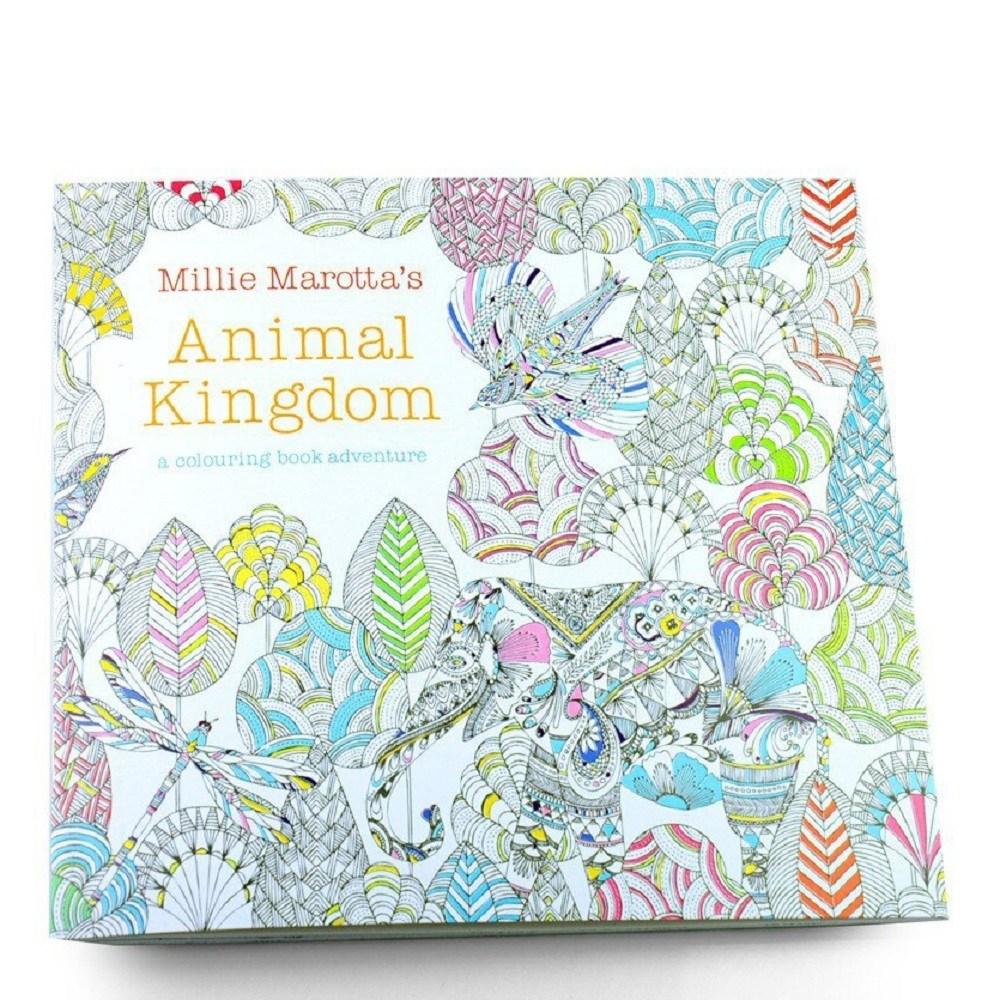 塗り絵 贈り物 Animal Kingdom 大人のぬりえ 代引不可 動物 定形外郵便 直輸入品激安 送料無料