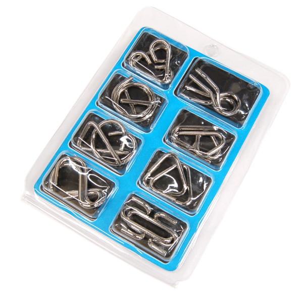 ミステリーリング 知恵の輪 8個セット 《藍》 パズル ゆうパケット発送 送料無料 年末年始大決算 代引不可 知育玩具 チャイニーズリング 2020