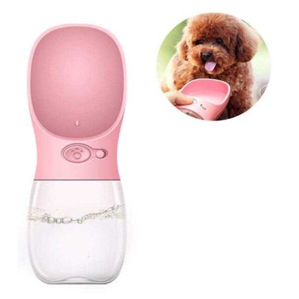 携帯水筒 激安卸販売新品 ペット用 ウォーターボトル 《ピンク》 犬 猫 送料無料 代引不可 定形外郵便 ファッション通販 水分補給 水飲みボトル 給水器