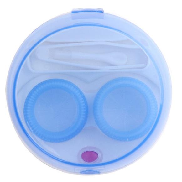 携帯用 コンタクトレンズクリーナー 《ブルー》 豊富な品 引き出物 洗浄器 クリーナー カラコン ハード 代引不可 ソフト 送料無料 定形外郵便