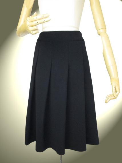 高品質 完全日本製 二重織 新ダブルウール ソフトプリーツスカート 【ロイヤルメード 紺】お受験 ミセス