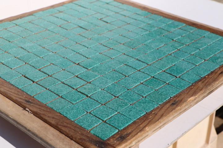 国内送料無料 鮮やかなモザイクタイルアートに最適なタイル スモークガラスモザイクタイル 20ミリ角 B-62 クラフト DIY 2020秋冬新作 グリーン