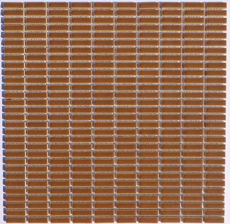レトロ ノスタルジックタイル DIY 台所 お風呂 洗面所 トイレの壁に最適 寒冷地内外装可能 ボーダー タイル 7×27ミリ 雑貨 茶色 水回り かわいいタイル 人気の定番 昭和レトロ ミニボーダー ハイクオリティ 内装壁 クラフト 16E ブラウン