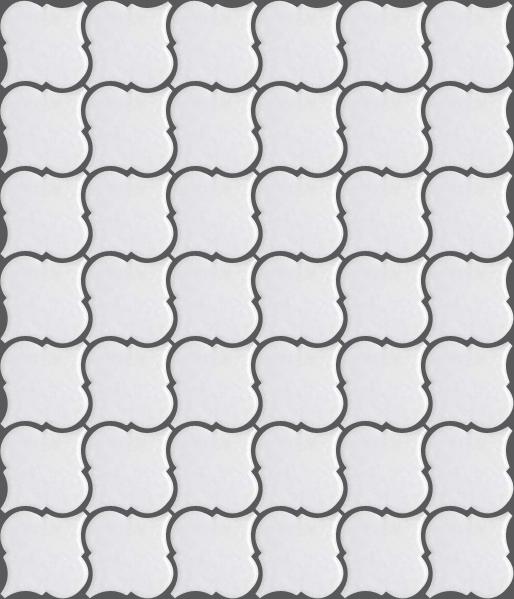 おしゃれなカウンター DIY 台所 お風呂 洗面所 ランタン タイル 白色 安心の定価販売 ホワイト マット クラフト アート カフェ風 キッチンカウンター タイルトレー LA-1 北欧風 キッチン モザイクタイル Bパターン かわいい レトロ 営業