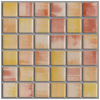 美濃焼伝統の釉薬によって 個性的な表情と色彩の変化のタイルです 美濃焼タイル ラスティカモザイコ23 開店祝い ニューブライト DIY PSS-27 超目玉 クラフト
