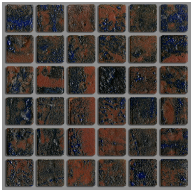 美濃焼伝統の釉薬によって 個性的な表情と色彩の変化のタイルです 美濃焼タイル ラスティカモザイコ23 クラフト 超安い 本物 ラスティック DIY 12