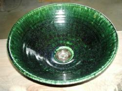 真山窯 陶芸手洗い鉢 織部 31cm 中