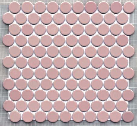 昔ながらの27丸タイル ノスタルジックで昭和レトロな雰囲気 丸 タイル 27ミリ丸 モザイク ピンク色 2020 サーモンピンク かわいい キュート 浴室 数量限定 内装 キッチンカウンター お風呂 クラフト オリジナルタイル 昭和レトロ BK-A03 キッチン サ-モンピンク DIY