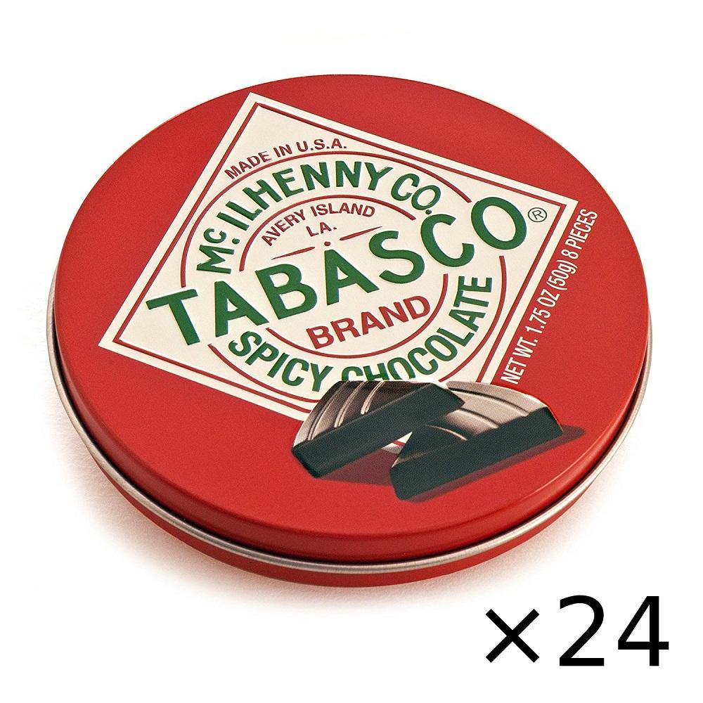 【送料無料】タバスコ スパイシーダークチョコレート 50g 24個セット