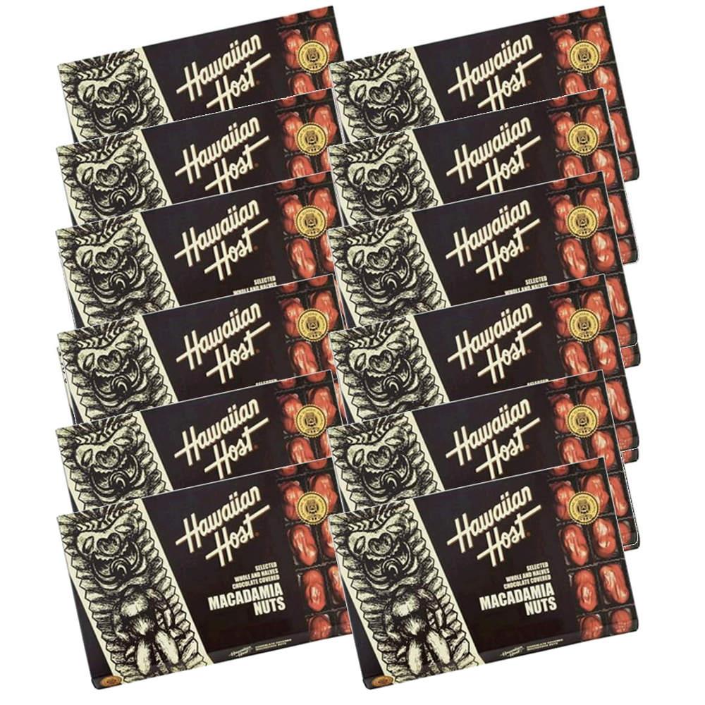 送料無料 ハワイ お土産 ハワイアンホスト マカダミアナッツ チョコレート 226g(8oz 16粒) ×12箱セット HawaiianHost ハワイアンホースト マカデミアナッツ 海外 輸入菓子