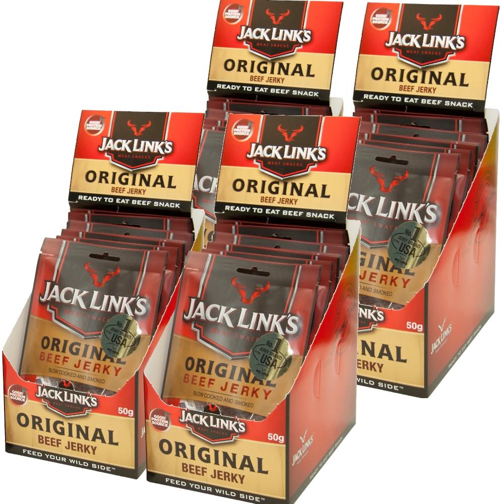 送料無料 ジャックリンクスビーフジャーキ オリジナル 1袋50g 業務用1ケース (10袋×4) USAジャーキNO1商品