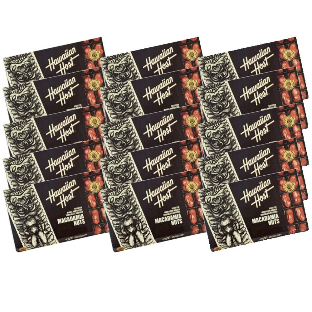 送料無料 ハワイ お土産 ハワイアンホスト マカダミアナッツ チョコレート 226g(8oz 16粒)×15箱セット HawaiianHost ハワイアンホースト マカデミアナッツ 海外 輸入菓子