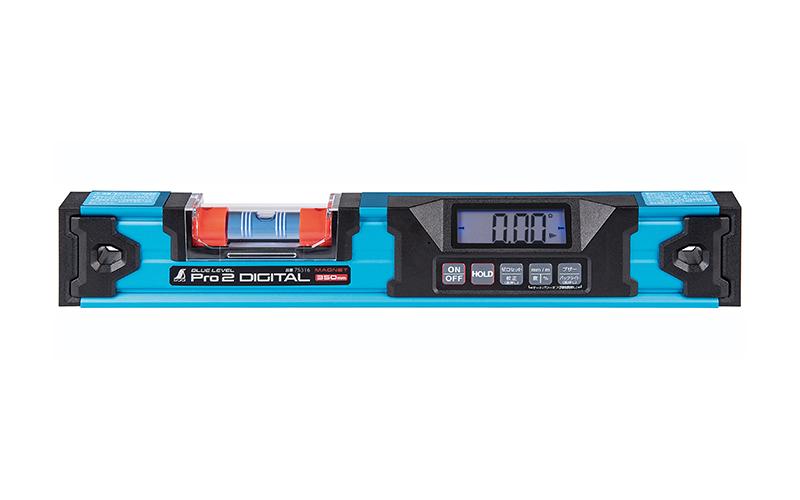 広島 シンワ測定 ブルーレベル Pro2 デジタル350mm マグネット付 防塵防水 75316 新品■送料無料■ マート