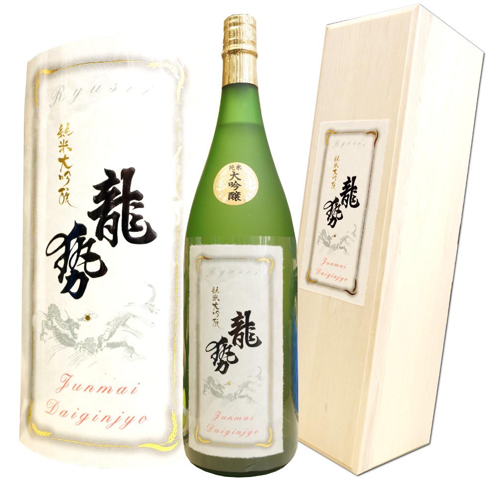 まさに別格。 広島 龍勢 純米大吟醸 別格品 1800ml 木箱入り 限定酒 藤井酒造 あす楽対応