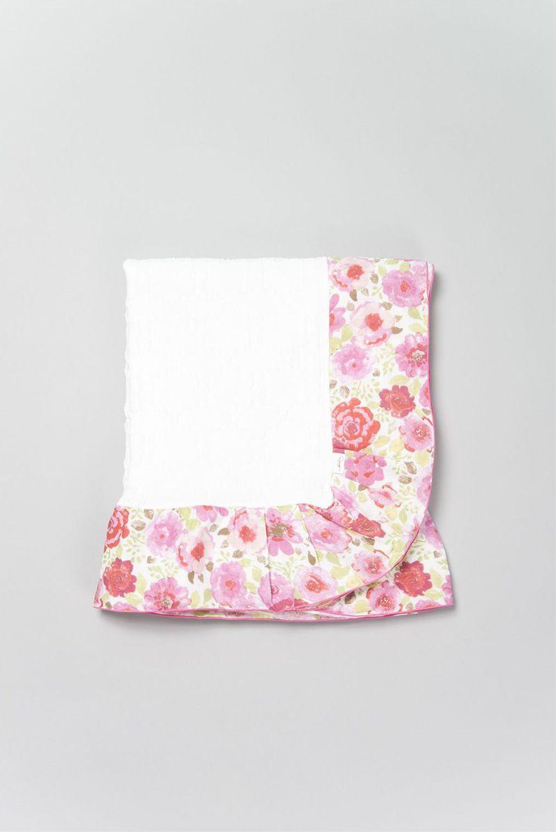 Dena Home オーバーブランケット フリルガーゼ ハーフサイズ- Roses<ロージズ>PK