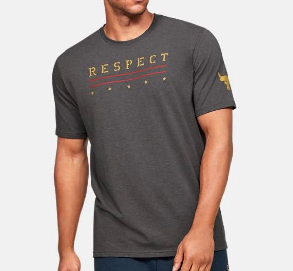 Under Armour アンダーアーマー UA Freedom x Project Rock Respect T-shirt 1346107 フリーダム x プロジェクト ロック リスペクト Tシャツ メンズ 取り寄せ商品