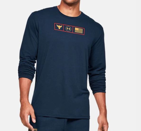 Under Armour アンダーアーマー UA Freedom x Project Rock Respect Long Sleeve Shirt 1346108 フリーダム x プロジェクト ロック リスペクト ロンT メンズ 取り寄せ商品 di