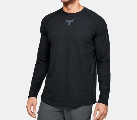 Under Armour アンダーアーマー Project Rock Charged Cotton Long Sleeve Tshirt プロジェクト ロック コットン ロンT ロング スリーブ メンズ 取り寄せ商品