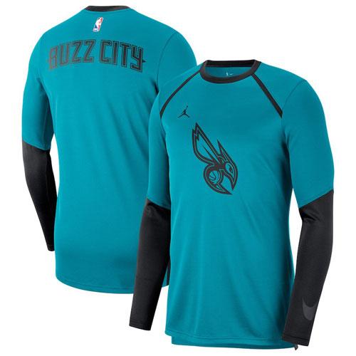 Nike Charlotte Hornets Jordan Long Sleeve Shooting T-Shirt ナイキ シャーロット ホーネッツ ジョーダン 長袖 シューティング Tシャツ バスケットボール メンズ 取り寄せ商品