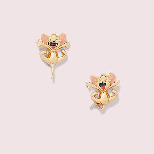 Kate Spade New York ケイトスペード Tom & & & Jerry Studs Earrings トムとジェリー スタッズ ピアス レディース ウーマン 取り寄せ商品 0a6