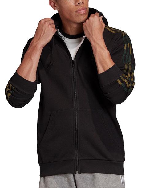 adidas Originals アディダスオリジナルス Camo 3 Stripes Zip Hoodie カモフラージュ スリーストライプ ジップフーディ メンズ 取り寄せ商品