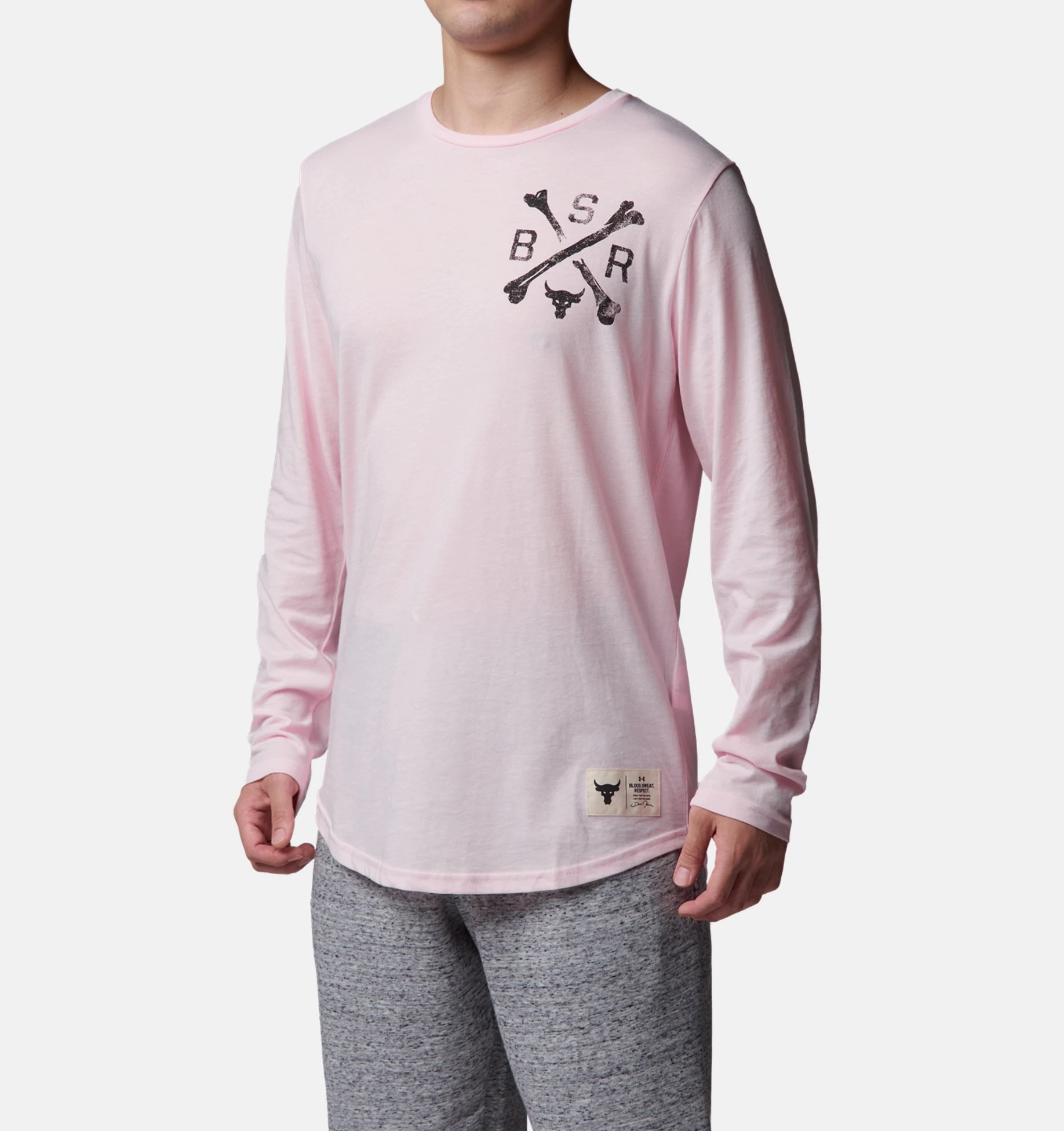 Under Armour アンダーアーマー Project Rock BSR Long Sleeve プロジェクト ロック ロングスリーブ Tシャツ メンズ 取り寄せ商品