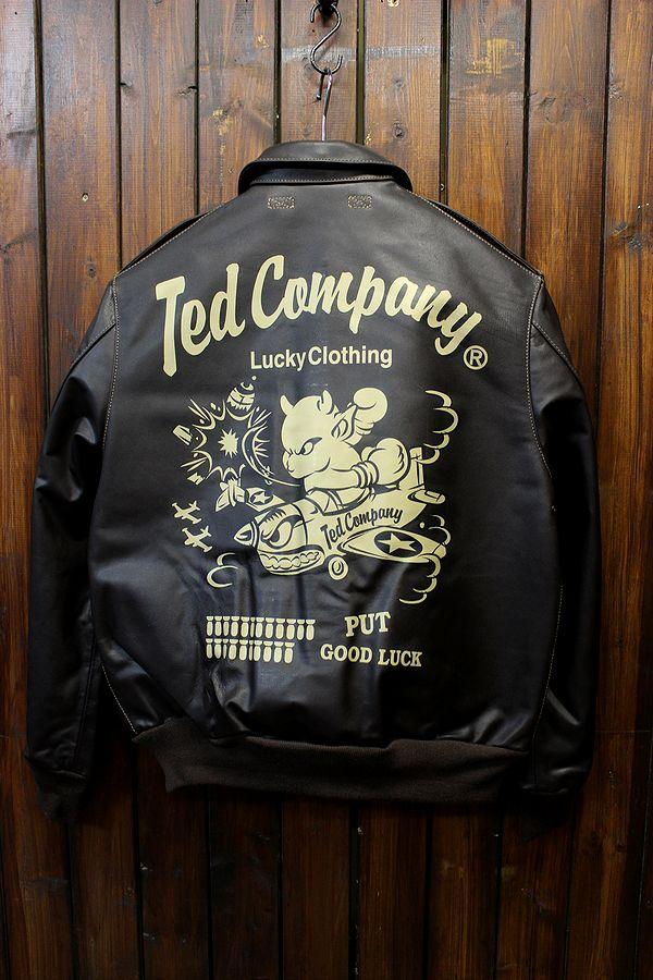 TEDCOMPANY エフ商会 TEDMANテッドマン レザーフライトジャケット A-2 TA2-200 ミリタリー革ジャン
