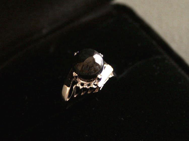 糸魚川黒翡翠指輪 R00243元粋 作