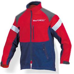 MissFOREST NEW ミスフォレスト 女性用チェンソー作業用スーツ ジャケット MT518 M L レッド ネイビー