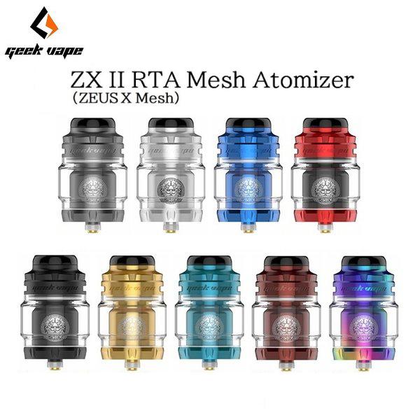 ゼウス エックス2 メッシュ ゼットエックス2 RTA アトマイザー Geek Vape Zeus X X2 VAPE ZXII 電子タバコ 優先配送 ZX2 Tnak MESH XII Atomizer 高級な