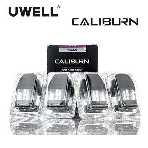 Uwell Caliburn 海外輸入 ついに再販開始 KOKO Replacement Pods 交換ポッド 4pcs 電子タバコ 1.4Ω 2ml