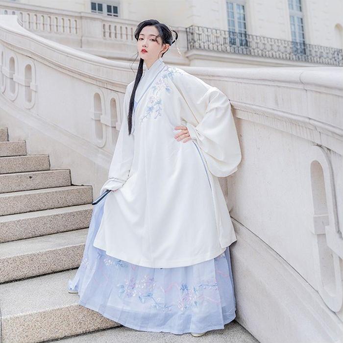伝統的なハンフースタイル ハンフー クラシカル ドレス ツーピース 当店限定販売 大人気 マキシ丈 上着ロング 長袖 漢服