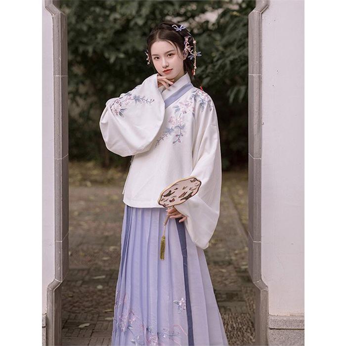伝統的なハンフースタイル ハンフー クラシカル ドレス 1着でも送料無料 ツーピース 爆買い新作 長袖 上着腰丈 マキシ丈 漢服