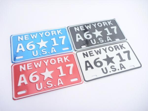 インテリアナンバープレート 品質保証 NEW 有名な YORK各色