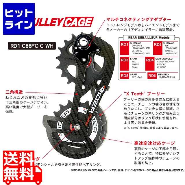 RD1-T35FC Rear Derailleur Cage (チタン) 147-04976