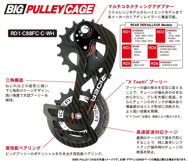 RD2-T35S Rear Derailleur Cage (レッド) 147-05935