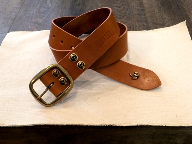 Standard skull leather belt