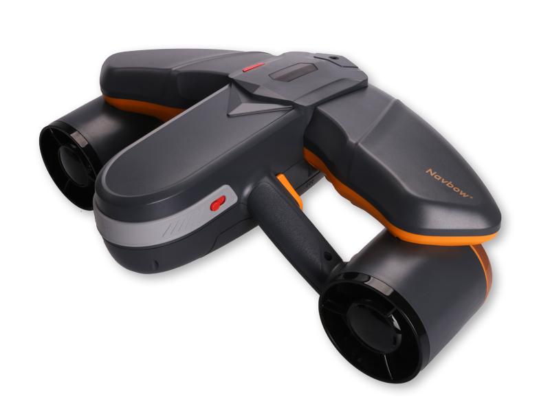 パワフルでコンパクトな新世代の水中スクーター SUBLUE WhiteShark Navbow+ 水中スクーター (フレイム オレンジ)