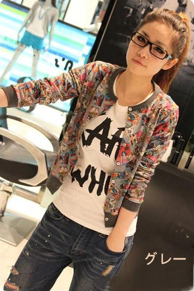 (Yen time ★ seal) animated pattern jumper jacket 0302 (50% off or more) (5000 yen or more customers only) auktn_50off2P13oct13_b ★ ★ Womens spring new one-piece wedding dress party long and more than 5000 Yen