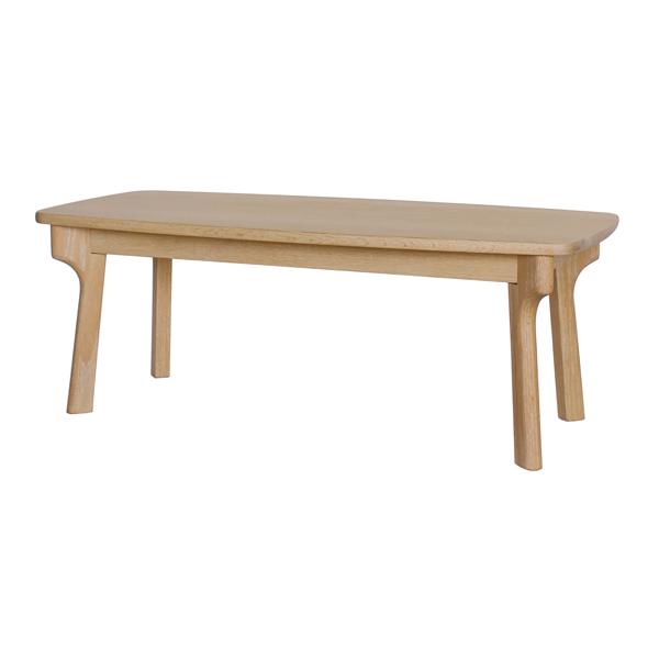 ローテーブル センターテーブル 北欧風 天然木 オーク材 幅110cm