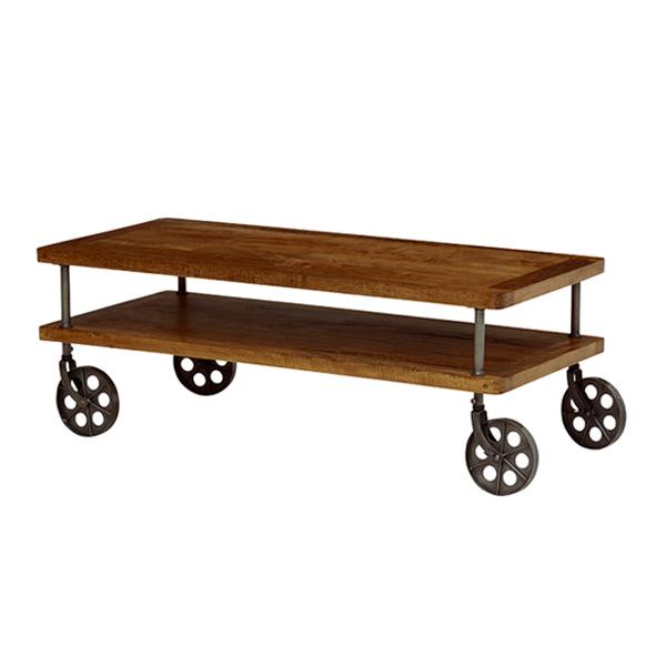 ローテーブル センターテーブル 車輪付 ミッドセンチュリー リベルタ 幅110cm