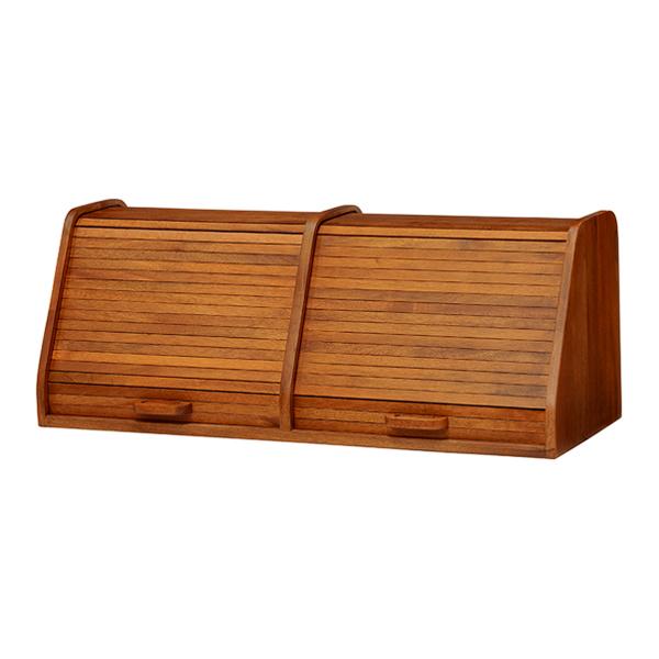 メンズライクながらもやわらかな印象の家具 CALMA ブレッドケース 2連 メーカー公式ショップ ヴィンテージ調 卓上収納 安全 幅70cm