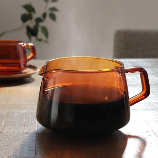 レトロなアンティーク品のような佇まい 耐熱ガラス製のジャグ ジャグ 300ml コーヒーサーバー キントー 食器 おしゃれ KINTO 耐熱 日時指定 SEPIA ガラス