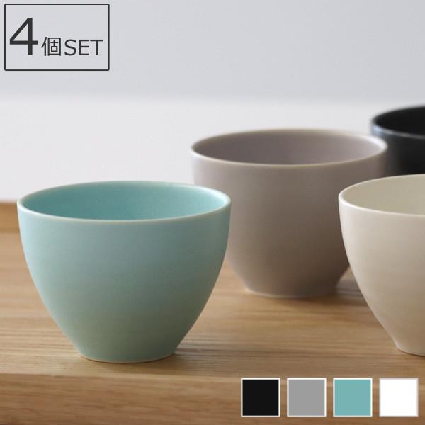 上質な道具で愉しむ、ほっとくつろぐお茶の時間 湯呑み 140ml 美濃焼 結 コップ 食器 磁器 日本製 同色4個セット