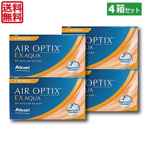(送料無料)エアオプティクスEXアクア(O2オプティクス)×4箱(チバビジョン) (国際格安配送)