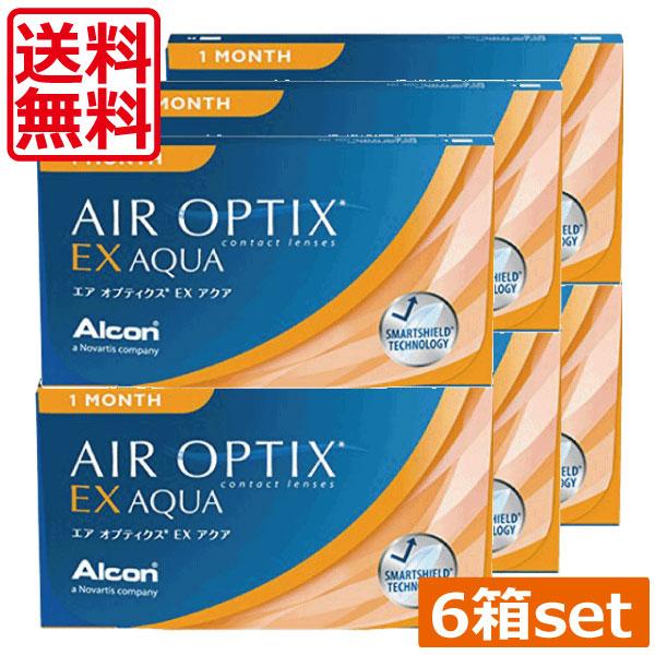 (送料無料)エアオプティクスEXアクア(O2オプティクス)×6箱(チバビジョン) (国際格安配送)